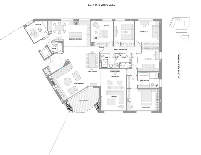 Casa Lucia Madrid - estado reformado